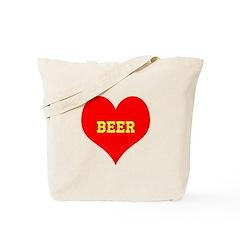 iHeart Beer Tote Bag