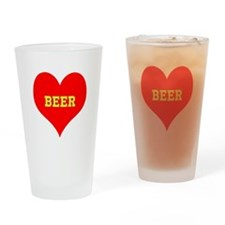 iHeart Beer Drinking Glass