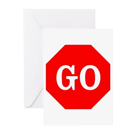 Go Stop Sign Greeting Cards (Pk of 20)