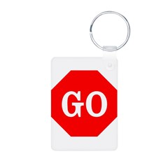 Go Stop Sign Keychains