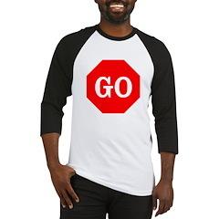 Go Stop Sign Baseball Jersey
