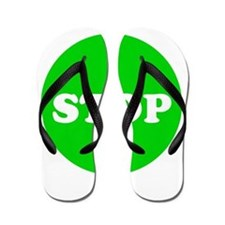 Stop Green Light Flip Flops