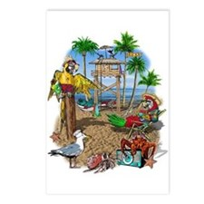 Parrot Beach Shack Postcards (Package of 8)