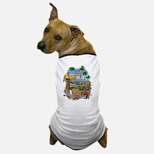 Parrot Beach Shack Dog T-Shirt