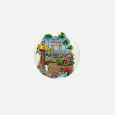 Parrot Beach Shack Mini Button
