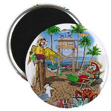 Parrot Beach Shack Magnet