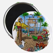 Parrot Beach Shack Magnet