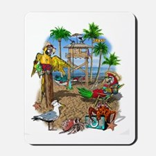 Parrot Beach Shack Mousepad