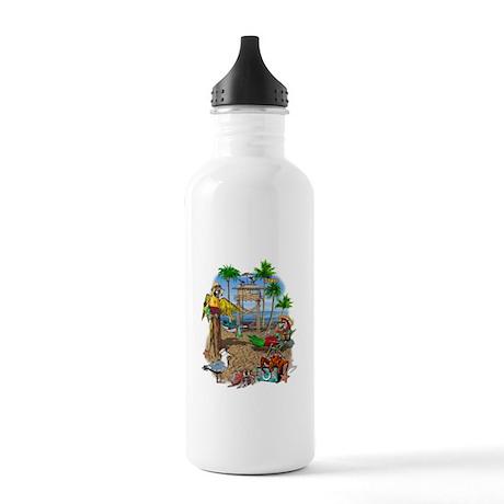 Parrot Beach Shack Stainless Water Bottle 1.0L