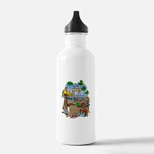 Parrot Beach Shack Water Bottle