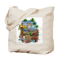Parrot Beach Shack Tote Bag