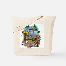 Parrot Beach Shack Tote Bag