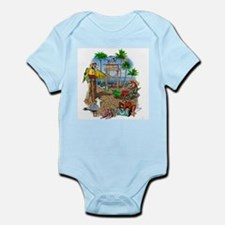 Parrot Beach Shack Infant Bodysuit