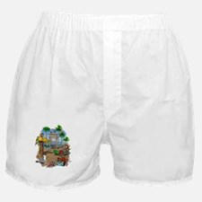 Parrot Beach Shack Boxer Shorts
