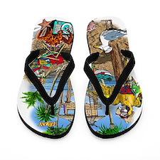 Parrot Beach Shack Flip Flops