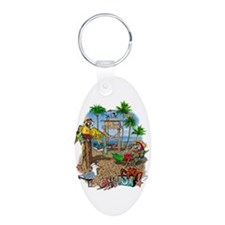 Parrot Beach Party Keychains