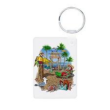 Parrot Beach Shack Keychains