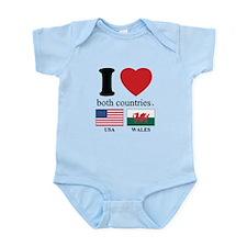 USA-WALES Infant Bodysuit