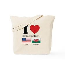 USA-WALES Tote Bag