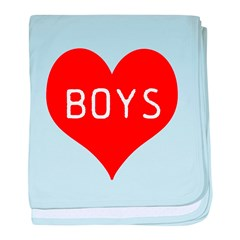 I Love Boys baby blanket
