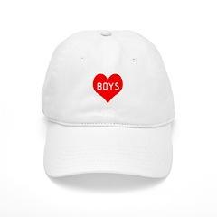 I Love Boys Baseball Cap