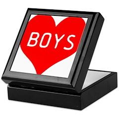 I Love Boys Keepsake Box