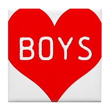 I Love Boys Tile Coaster