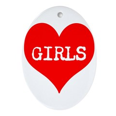 iLove Girls! Ornament (Oval)