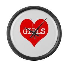 iLove Girls! Large Wall Clock
