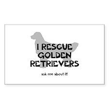 I RESCUE Golden Retrievers Decal