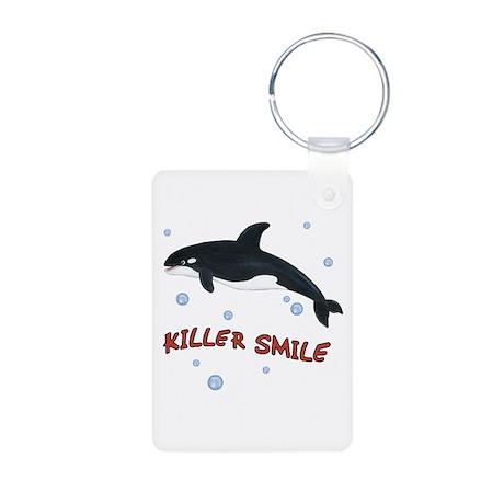 Orca Whale - Killer Smile Aluminum Photo Keychain
