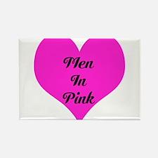 iHeart Men in Pink Rectangle Magnet