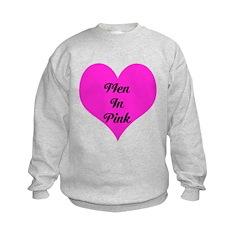 iHeart Men in Pink Sweatshirt