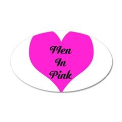 iHeart Men in Pink 38.5 x 24.5 Oval Wall Peel