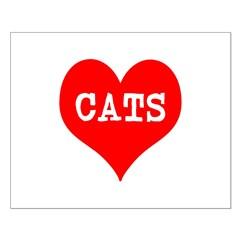 I Heart Cats Posters