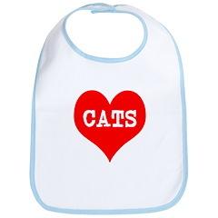 I Heart Cats Bib