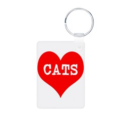 I Heart Cats Keychains