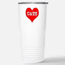 I Heart Cats Stainless Steel Travel Mug