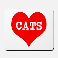 I Heart Cats Mousepad