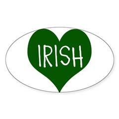 iHeart Irish St Patrick's Day Sticker (Oval 50 pk)
