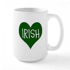 iHeart Irish St Patrick's Day Large Mug