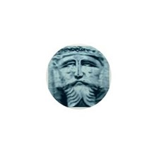 Blue Weeping Jesus Mini Button (10 pack)