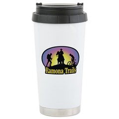 Stainless Steel Travel Mug with Color Logo