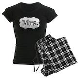 Mr and mrs Women's Pajamas Dark