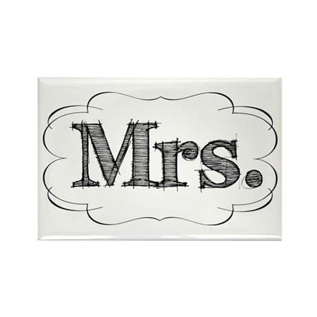 His & Hers Rectangle Magnet
