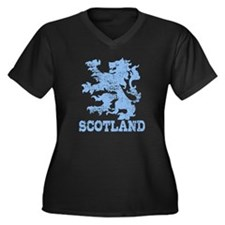 Scotland Women's Plus Size V-Neck Dark T-Shirt