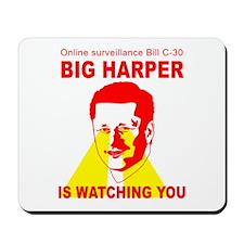 Bill C-30 BIG HARPER Mousepad