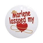 Marlene Lassoed My Heart Ornament (Round)
