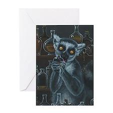 Pirate Lemur Greeting Card
