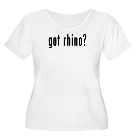 GOT RHINO Women's Plus Size Scoop Neck T-Shirt